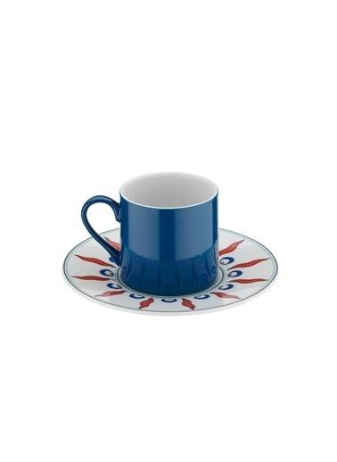 Kütahya Porselen Çintemani 9730 Desen Kahve Fincan Takımı Renkli